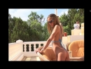Hot Beach Babe Posing in Tiny Sling Bikini