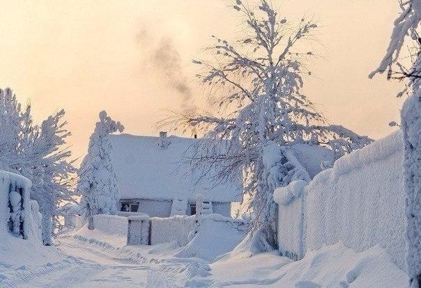 В моём детстве зима была такой....)