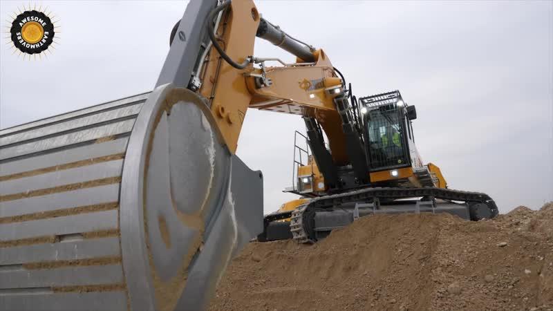 Danish Construction Channel Operating Liebherr R960 SME