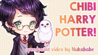 Chibi Harry Potter   Full Process from Scratch!   Speedpaint by Nukababe [Patreon Learning Pack #24]