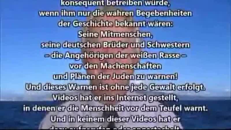 """FREIHEIT für Alfred Schäfer - WIDERSTAND gegen GENOZID an Weißen (FASCHISMUS der sog. """"Elite"""") - [ZENSIERTE Version]"""