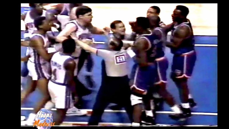 Dennis Rodman vs Patrick Ewing! Pistons vs Knicks Bad Boys Are in Action! 92 Playoffs