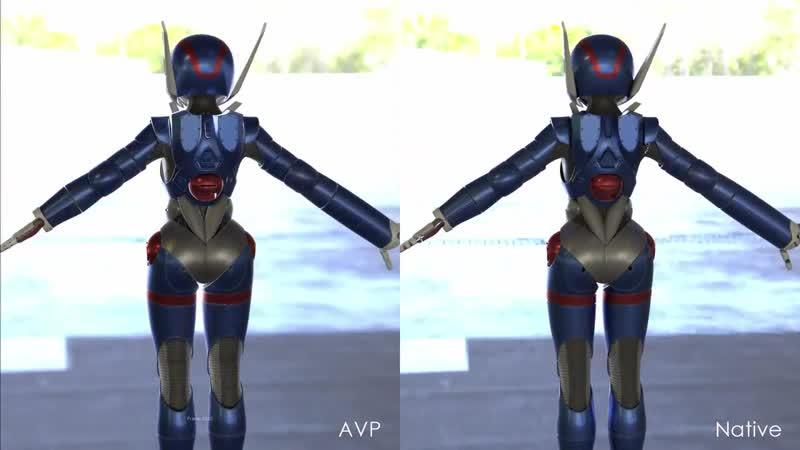 Modo 12 Advanced Viewport vs Native Render