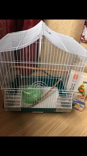 Клетка для попугая, поилка, ванночка