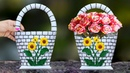 Wall hanging flower vase Plastic Bottle flower vase at home
