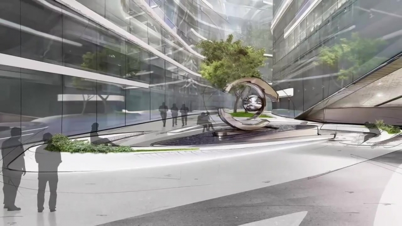Лахта Центр Многофункциональное здание с атриумом