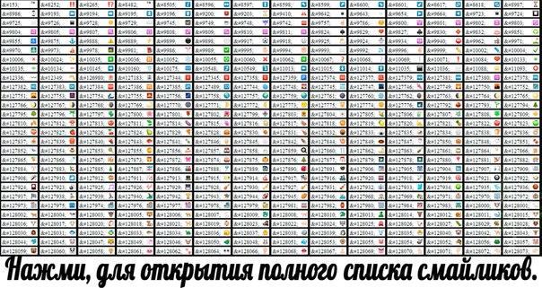коды от вк смайлики картинки