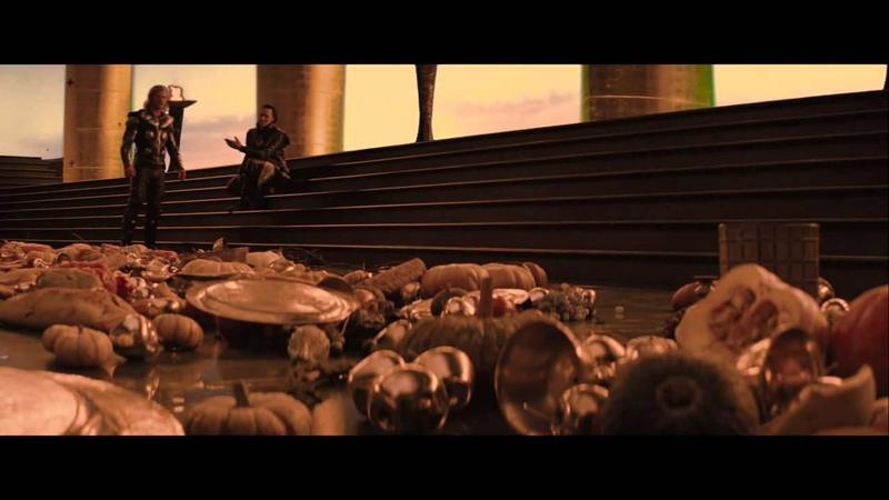 Thor Thor Loki Sif the Warriors Three extended scene