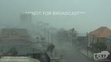 10-10-2018 Panama City Beach, Fl Hurricane Michael rips roof off home, EXTREME eyewall