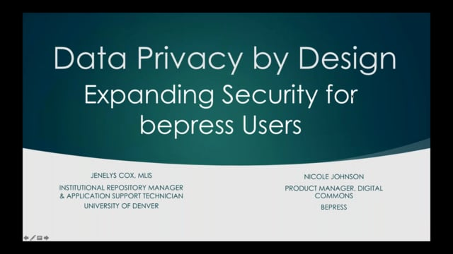 Data Privacy by Design: Expanding Security for bepress Users