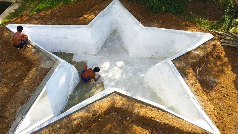 Build Beautiful Star Swimming Pool Underground(part1)