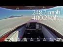 847 км⁄ч на мотоцикле ¦ Самые быстрые мото в мире - В шлеме