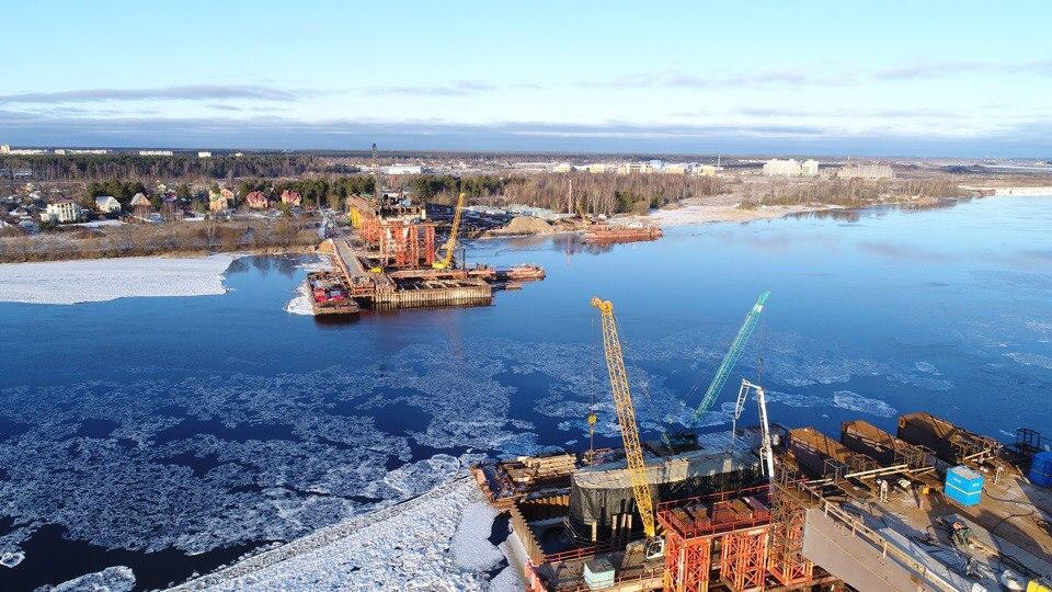 Губернатор Андрей Воробьёв поделился фотоснимками строительства моста в Дубне