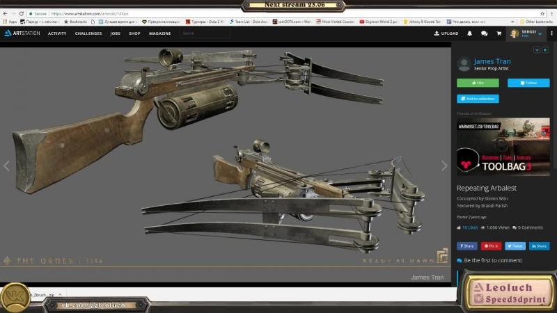 Leoluch - Разработка игрового контента - Моделинг арбалета , часть вторая » Freewka.com - Смотреть онлайн в хорощем качестве