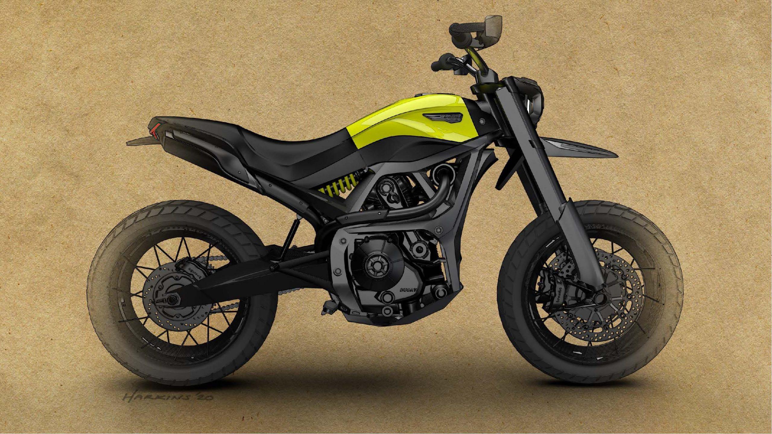 Будущий дизайн Ducati Scrambler?!