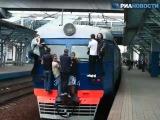 Московские электрички отправляются с живым