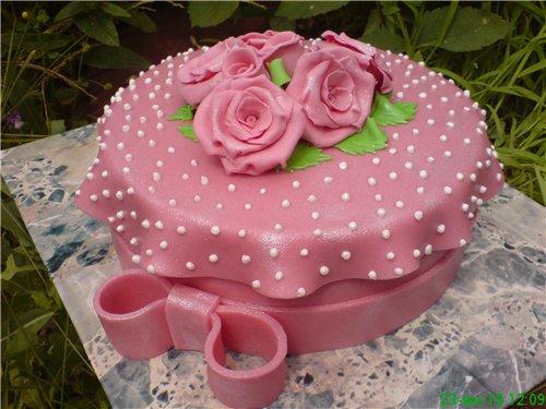 Украсить торт мастику в домашних условиях видео