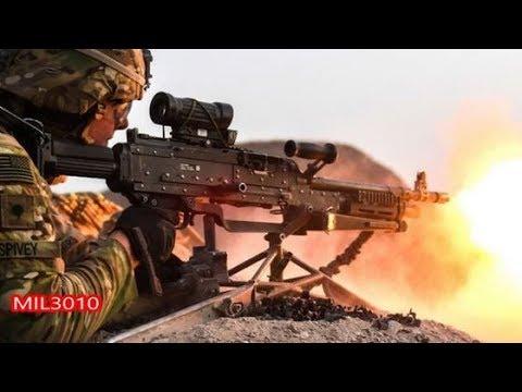 🔥 Пулемет M240 Солдаты 10-й Горной дивизии Армии США в Африке