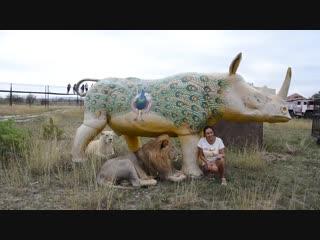 Фото с ВОЖАКОМ под носорогом ! Тайган