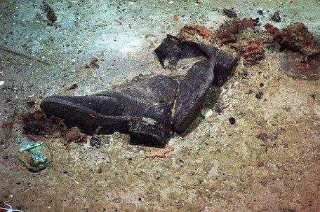 Обувь одного из пассажиров «Титаника» на дне океана,