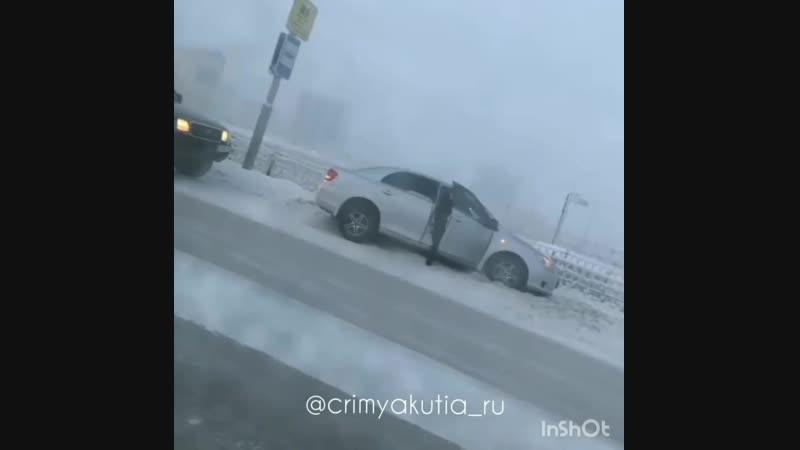 ДТП на ул Автодорожная в Якутске 06 01 19г