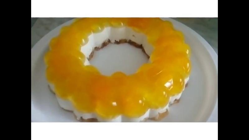 Желейный торт в форме для желе tupperware
