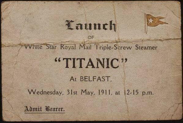 Приглашение на рейс «Титаника», 1911 год.