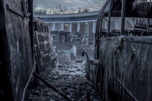 Згорілі автобуси в Києві