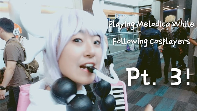 Playing Melodica While Following Cosplayers Pt 3 ARMYS LOOK OUT