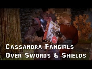 Dragon Age Inquisition - Cassandra FANGIRLS Over Varric's Book