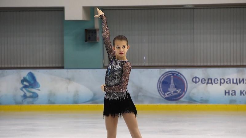 Анастасия Шаботова, КП (Anastasia Shabotova, SP), Первенство Москвы старшего возраста 2019