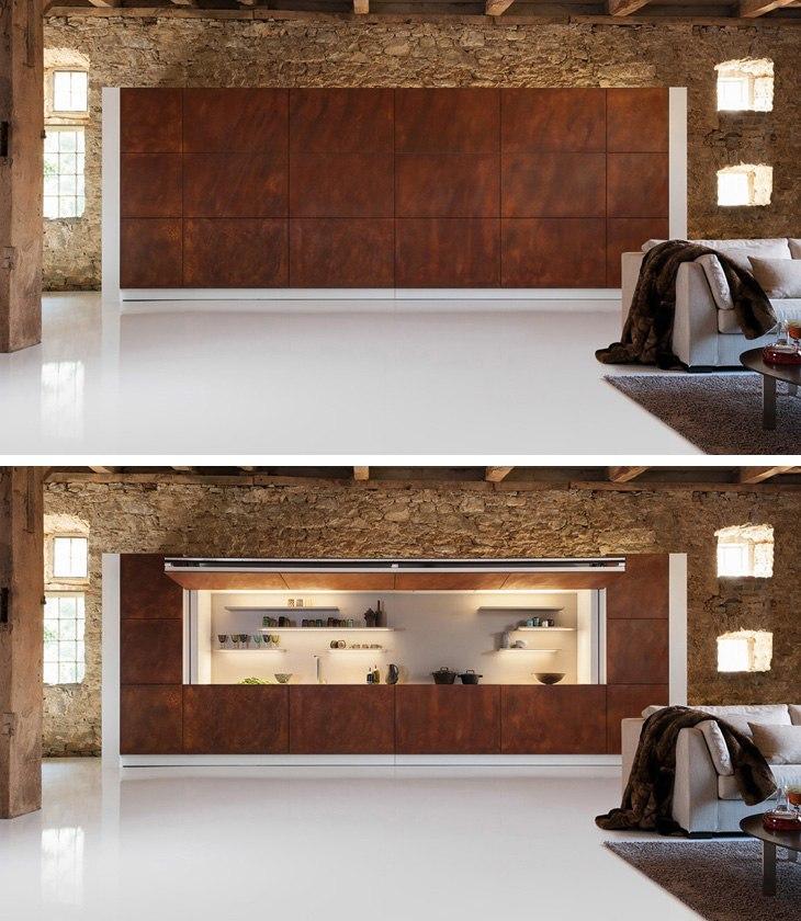 Hidden Kitchen - скрытая кухня от Warendorf - http://kvartirastudio.