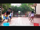 Kids Competition Relay Games Move Ball w Kids Jumping on the Bed Song Children