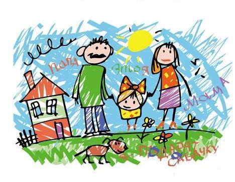 детские рисунки моя семья: