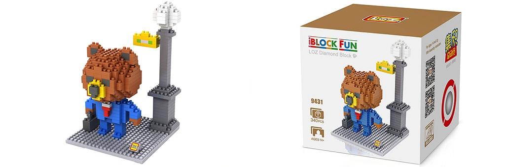 """Конструктор LOZ Diamond Block iBlock Fun """"Тед рабочий"""" 9431"""