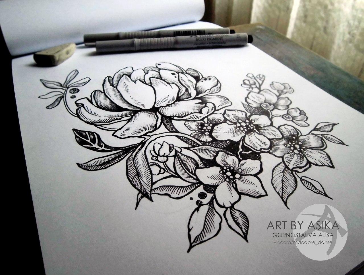 Tendenza эскизы татуировок на руку цветы
