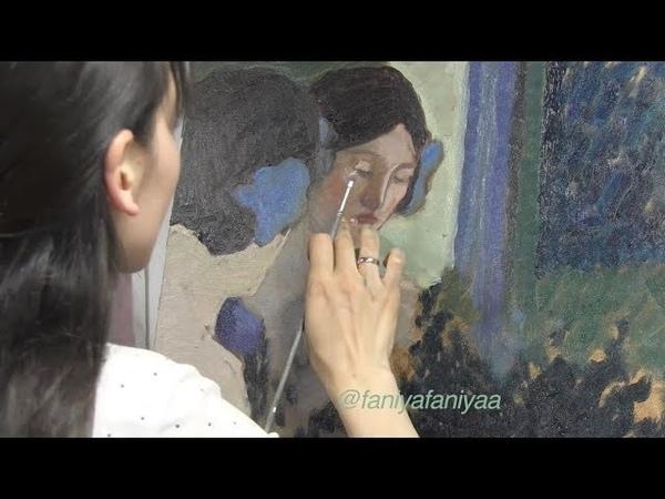 Импрессионизм, копируем Фриске, масляная живопись, уроки для начинающих