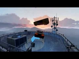 GTA 5 Online - Escape from the roof (Race) Crazy Stunts