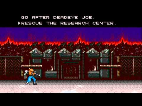 HARDEST CONTRA GAME - Contra Hard Corps - (Part 1)