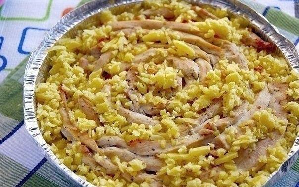 """Мясной пирог """"Чайная роза"""" Ингредиенты: Куриная грудка — 2"""