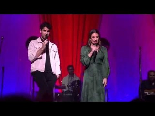 Lea Michele & Darren Criss - Broadway Baby + talk (San Francisco)