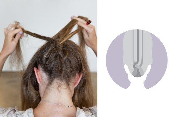 как сделать плетенку на волосах