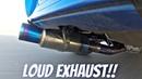 Subaru Impreza STi with Tomei Ti Titanium Exhaust LOUD Sound!