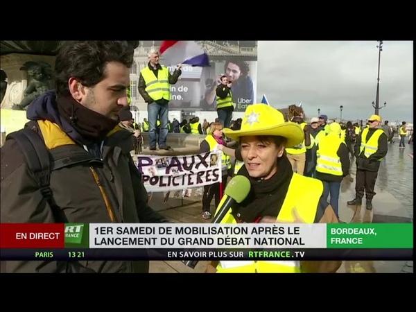 Les Gilets jaunes à Bordeaux : Elle Raconte Ce Qui C'est Passé Avec Le Pompier Olivier l'Acte 9