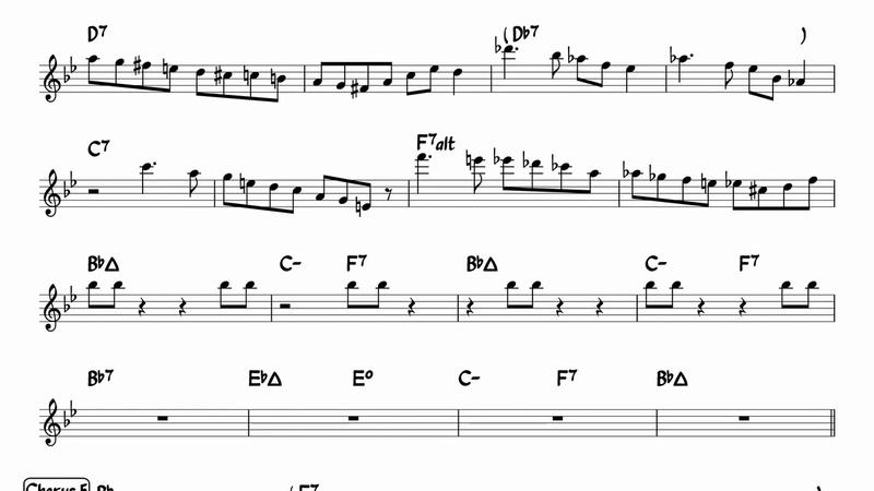 Transcription Joel Frahm Burns Rhythm Changes at 360 BPM