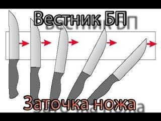 Вестник БП. Как быстро наточить нож.