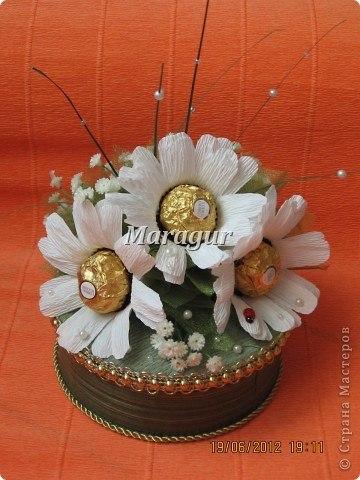 Ромашки из конфет  Автор: Maragur