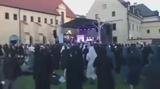 Nun dancing jump style