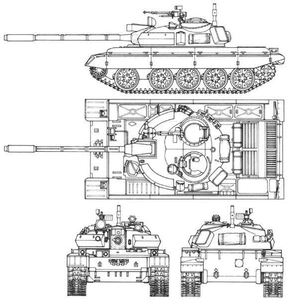 На танках Т-55М