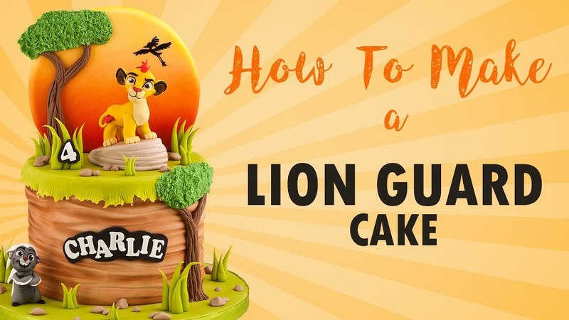 Lion Guard Cake Tutorial with Kion How To Cherry School